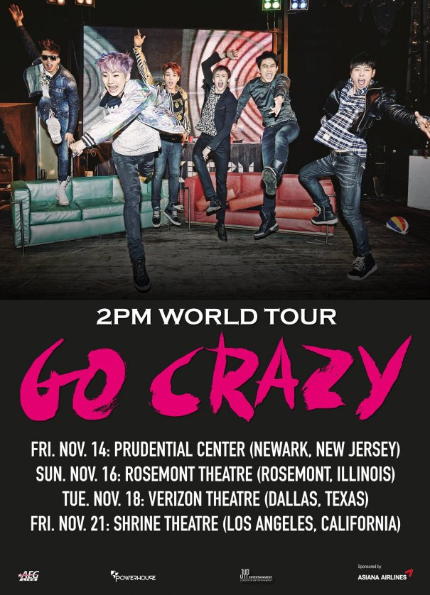 2PM Announces US Tour Dates