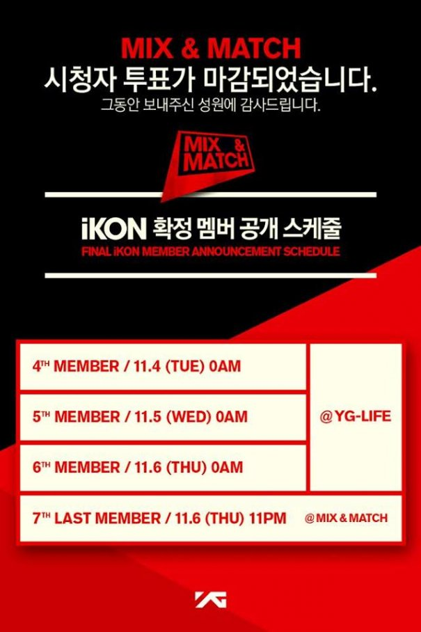 Two more iKON Members announced by YG Entertainment