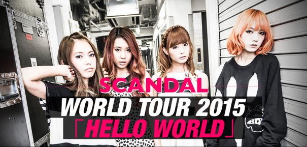 SCANDAL Announces Additional Performances for World Tour