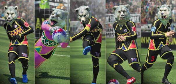 [Jrock] MAN WITH A MISSION Collaborates with Pro Evolution Soccer 2015