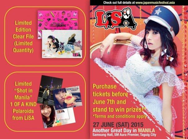 [Jpop] Early Bird Special Bonus Announced for LiSA's Mini-Live in Manila