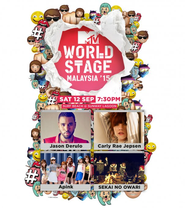 [Giveaway] Free Passes To MTV's World Stage In Malaysia Featuring Apink & SEKAI NO OWARI