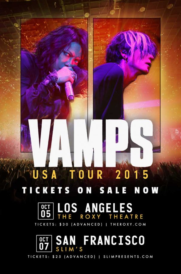 [Exclusive] Free Tickets To VAMPS USA Tour 2015 + Merchandise Giveaway