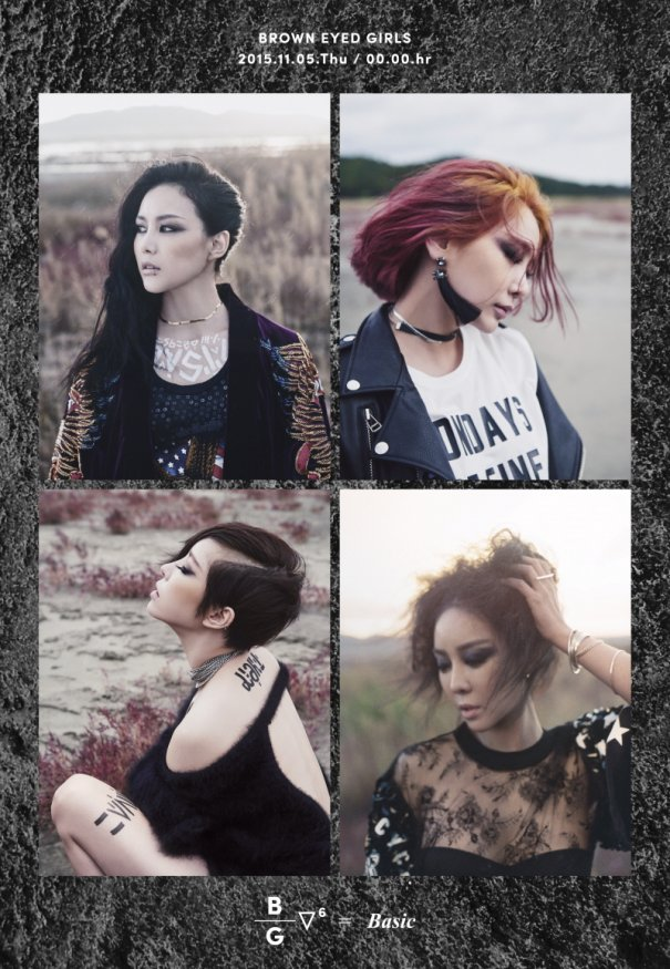 "Brown Eyed Girls Teases New Album ""Basic"" With Individual Images"