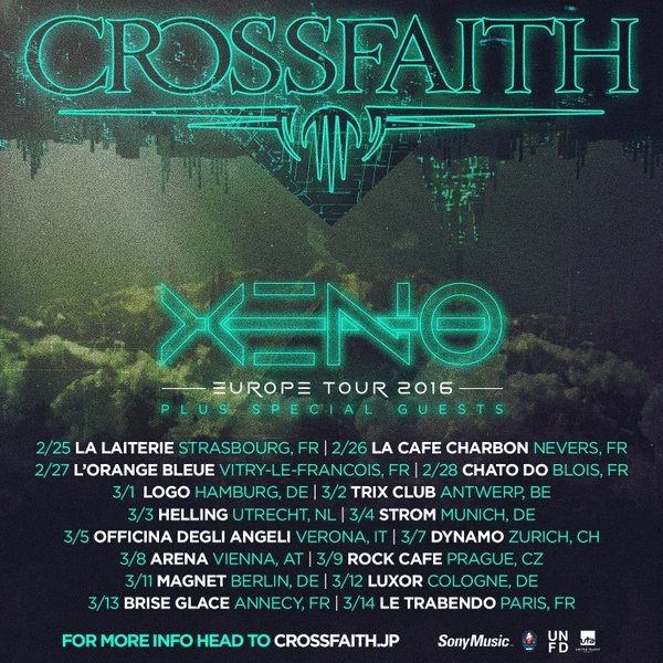 Crossfaith to Go on Europe Tour