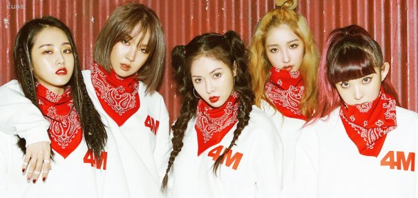 [Kpop] All Members Of 4Minute Except HyunA Leave Cube Entertainment