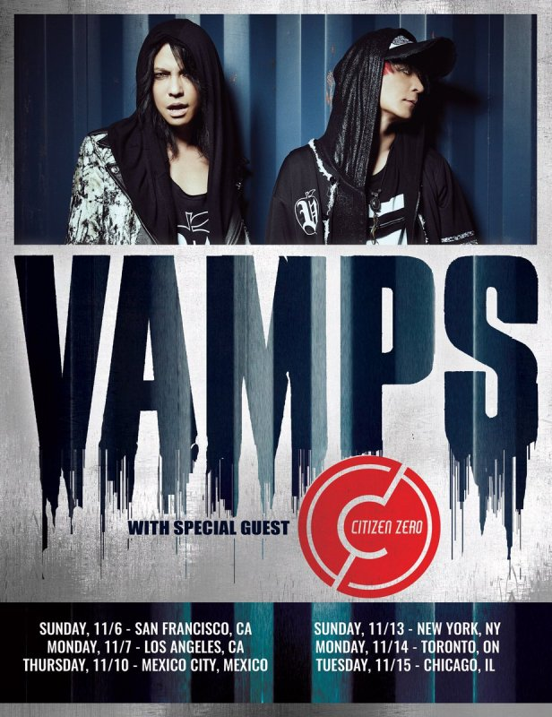 VAMPS to Headline North American Tour this November