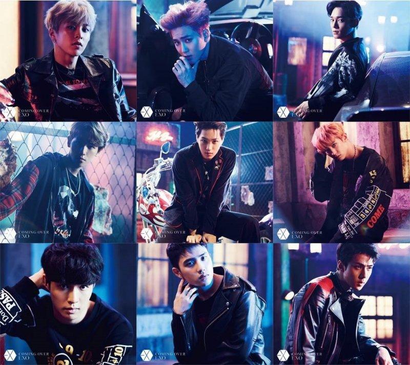 """EXO Revealed Jackets for Upcoming Original Japanese Lyrics 2nd Single """"Coming Over"""""""