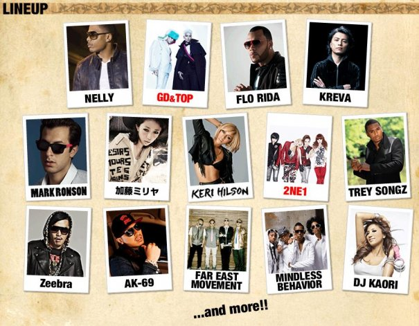 "Line-Up For Japan's ""SPRINGROOVE 2011″ Concert"