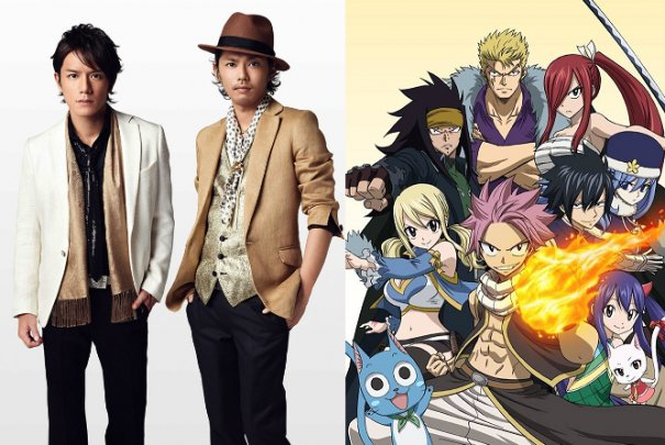 Tackey and Tsubasa Sing Opening Theme for Anime Series 'Fairy Tail'