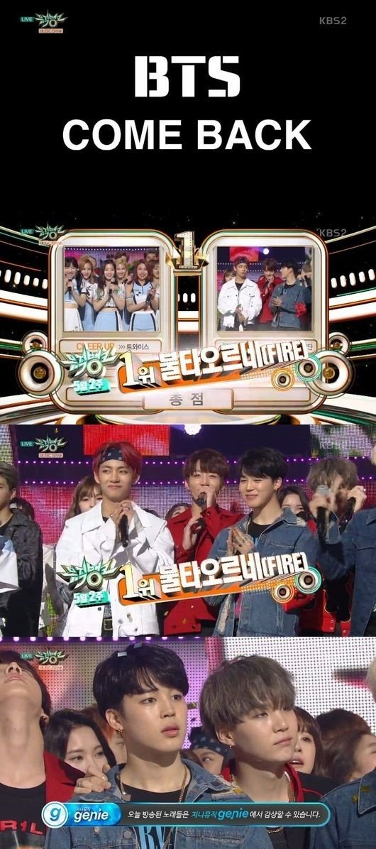 Bangtan Boys Win No.1 on Music Bank