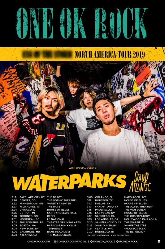 [Jpop] ONE OK ROCK Announces North America Tour 2019